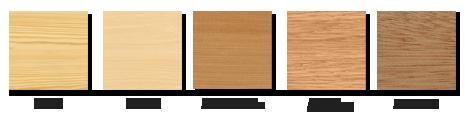 mediniu langu medienos tipai